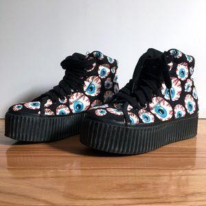 JEFFREY CAMPBELL eyeball hiya platform sneakers